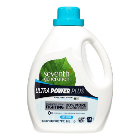 Seventh Generation Ultra Power Plus Liquid Laundry Detergent Fragrance Free 95 oz