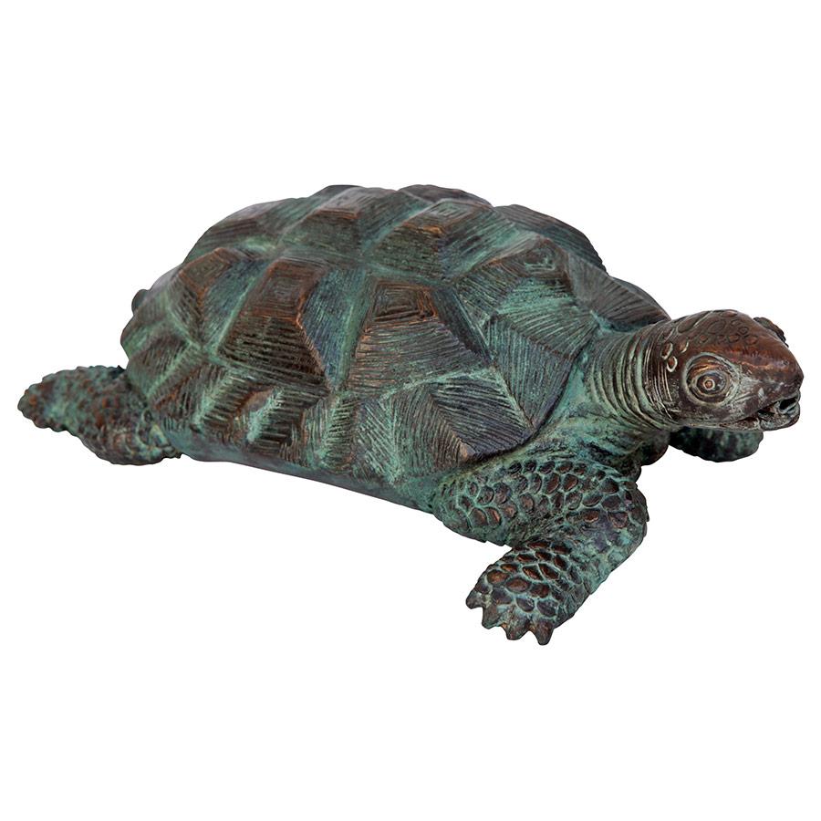 Traipsing Turtle Bronze Garden Statue