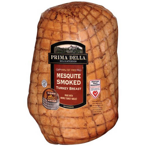 Prima Della Mesquite Smoked Turkey Breast, Deli Sliced