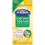 Dr. Scholl's Ingrown Toenail Pain Reliever, 12 Cushions, 12 Bandages