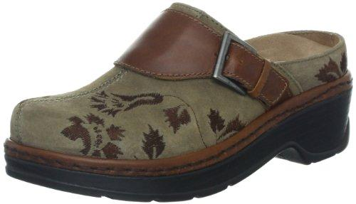 Klogs Austin Womens Clogs Taupe Suede Tapestry by Latitudes Inc.