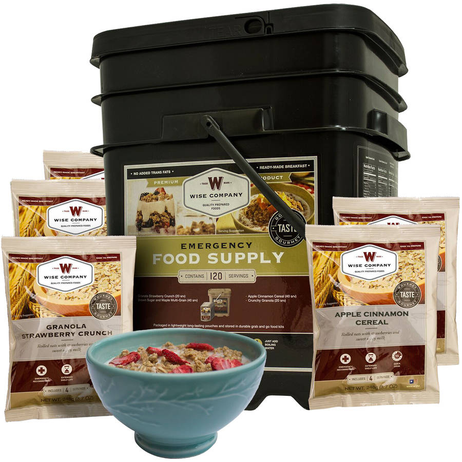 Wise 120 Serving Freeze Dried Breakfast Only Grab and Go Bucket