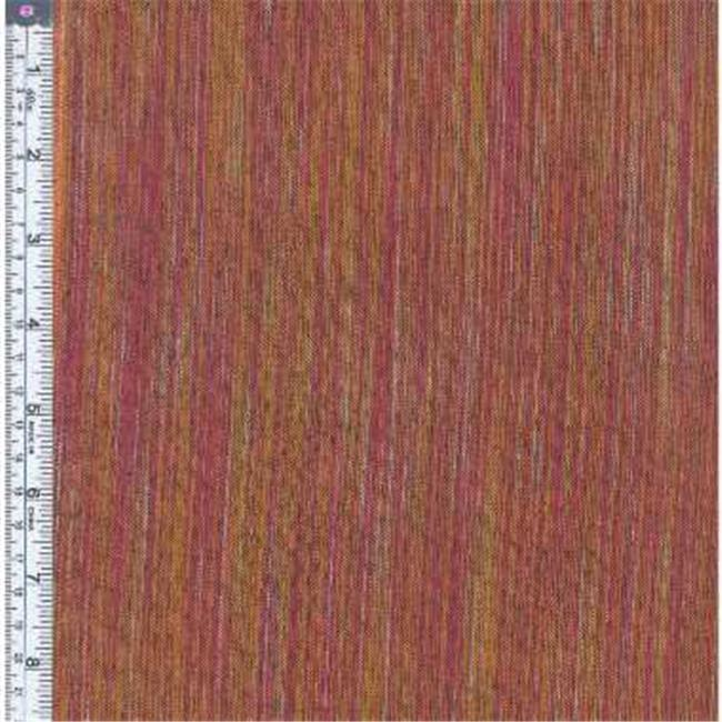 Textile Creations OR-028 Ombre Ridge Fabric, Vertical Stripe Wine And Gold, 15 yd.