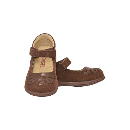 Girls Brown Bloom Leather Lining Gum Sole Mary Jane -