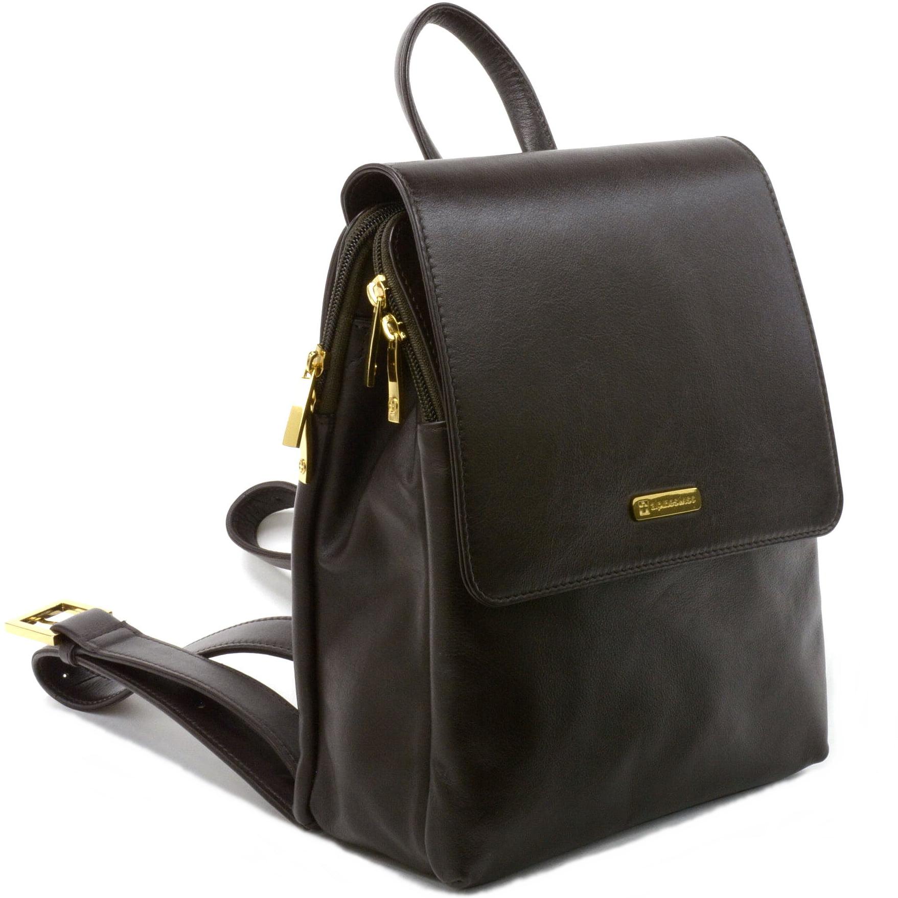 Swiss Womens Genuine Leather Backpack Purse Everyday Handbags