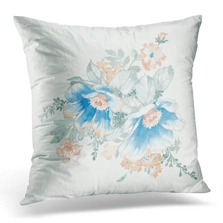 CMFUN Abstract Flowers Bring Pure and Fresh Sense The Leaves and Design Blossom Pillow Case Pillow Cover 20x20 inch (Design Sense Inc)