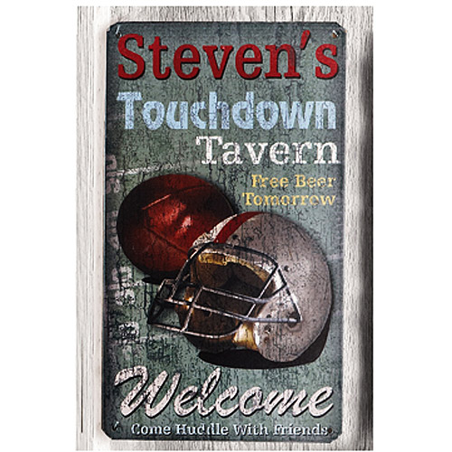 Personalized Metal Sign, Touchdown