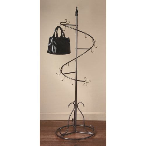 Ebern Designs Spiral Purse Tree Coat Rack