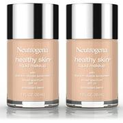 2 Pack -Neutrogena Healthy Skin Liquid Makeup Foundation, Broad Spectrum Spf 20, 100 Natural Tan, 1 Oz.