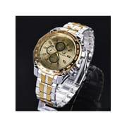 Luxury Stainless Steel Analog Quartz Clock Sport Watch for Men OENKE