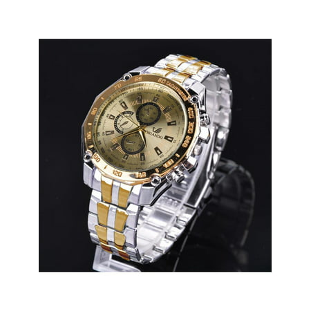 Luxury Stainless Steel Analog Quartz Clock Sport Watch for Men OENKE ()