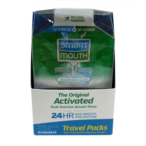 Smartmouth 24 Hours Original Mouthwash Packets, Fresh Breath - 10 Ea, 6 Pack