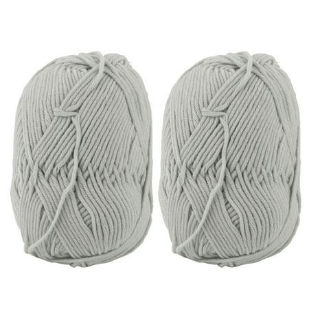 Festival Scarf Sweater Hat Crochet Weaving Knitting Yarn Light Gray 100g