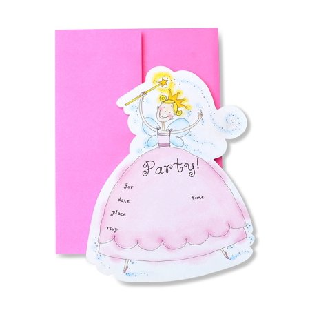 Zoomerang Pretty Princess Laser Cut Invitations - Cute Invitations