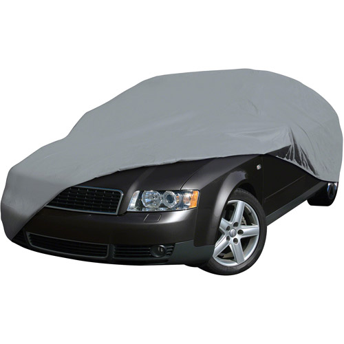 Classic Accessories 71003-M Deluxe 4-Layer Car Storage Cover, Grey