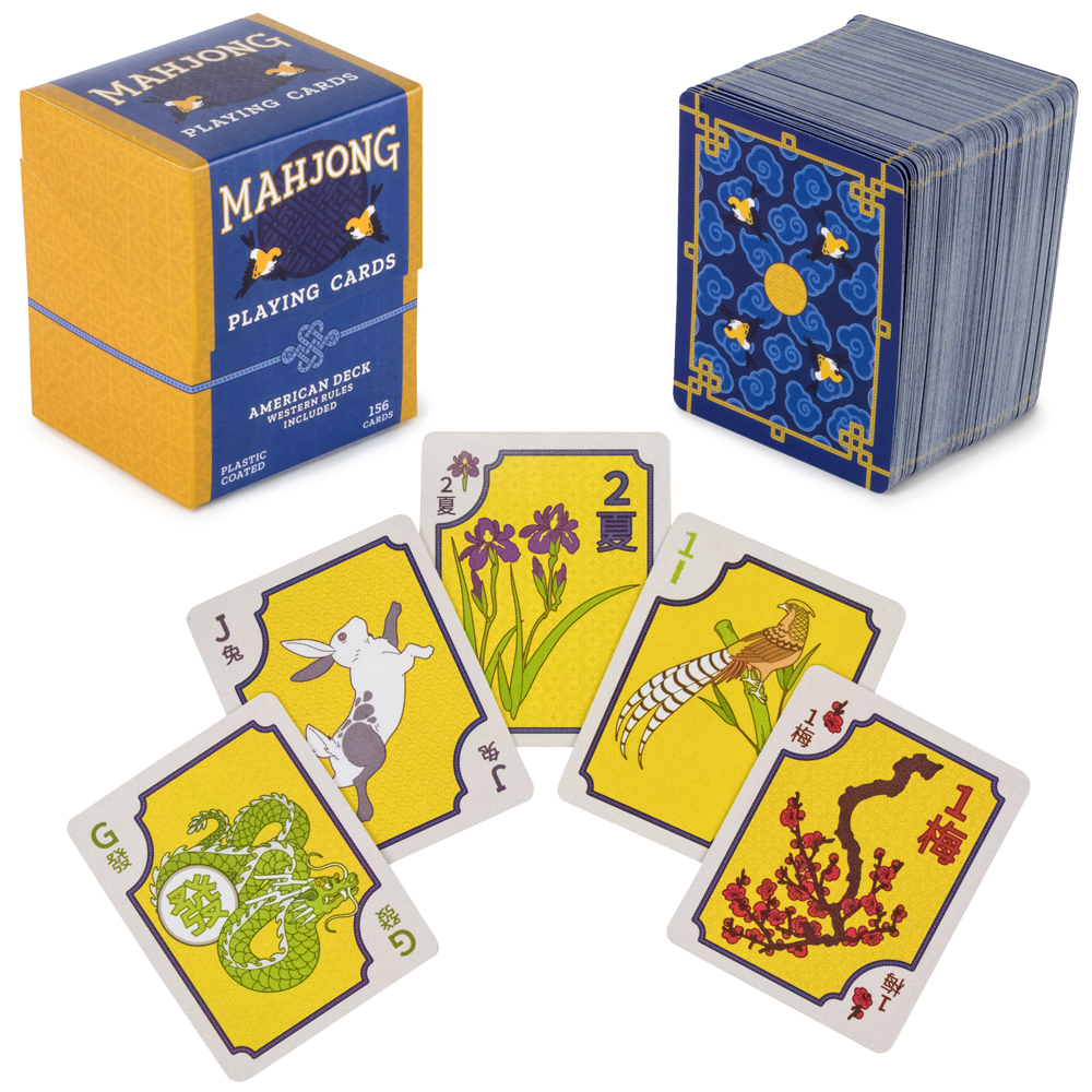 Brybelly American Mahjong Playing Cards - 156-Card Deck with Western Rules & Storage Box