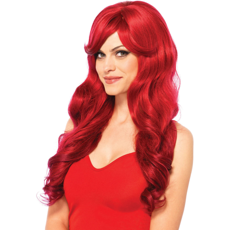 Leg Avenue Long Wavy Red Wig Adult Halloween Costume