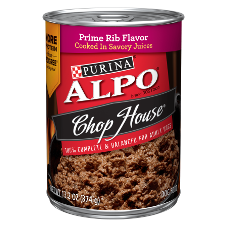 Dog House Blind - Purina ALPO Chop House Prime Rib Flavor Adult Wet Dog Food - 13.2 oz. Can