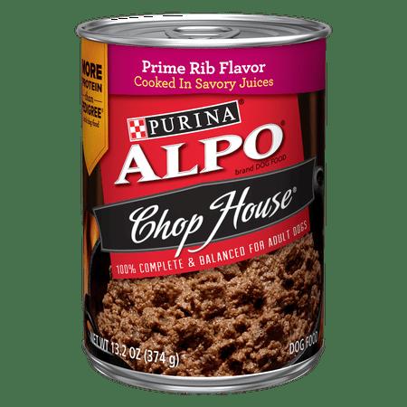 (Purina ALPO Chop House Prime Rib Flavor Adult Wet Dog Food - 13.2 oz. Can)