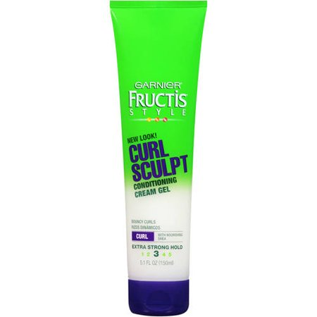 - (2 Pack) Garnier Fructis Style Curl Sculpt Conditioning Cream Gel, Curly Hair, 5.1 fl. oz.