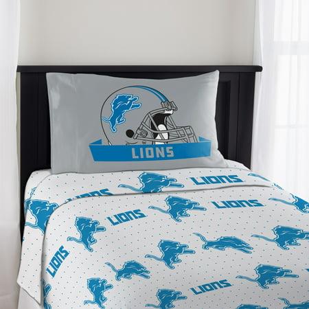 NFL Detroit Lions Monument Twin Sheet Set, 1 - Nfl Detroit Lions