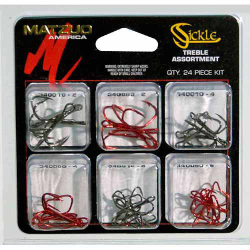 Matzuo Sickle 24-Piece Treble Hook Assortment