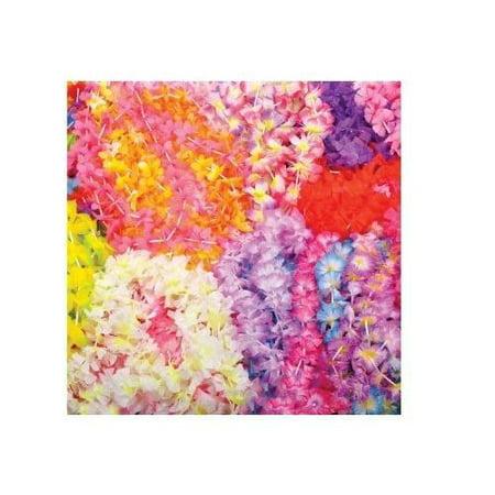 Mega Silk Lei Flower Assortment for Tropical Hawaiian Luau Party Favors (50 - Hawiian Leis