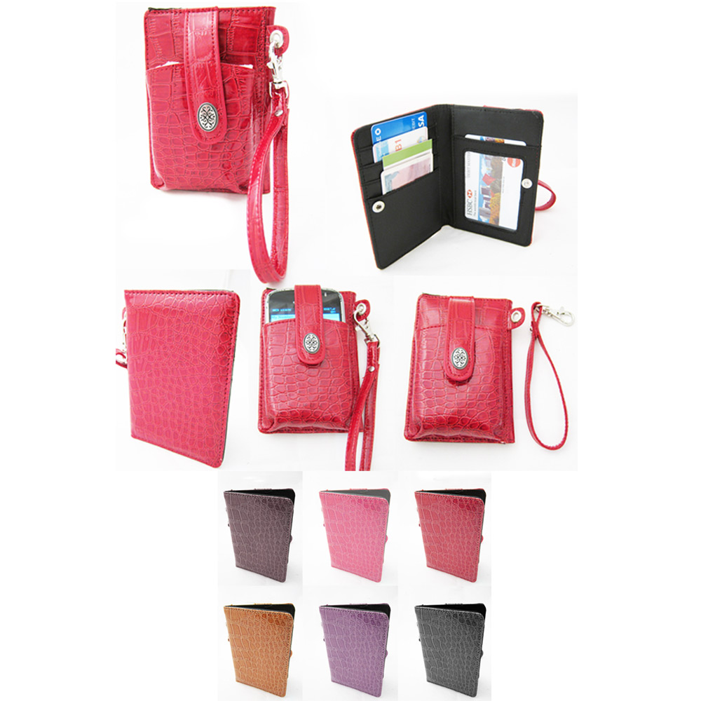 Wristlet Wallet Cell Phone Holder Credit Card Id Purse Molbile Bag Pouch Milano