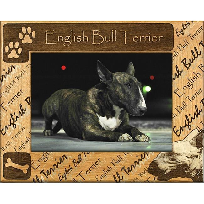 Giftworks Plus DBA0069 English Bull Terrier, Alder Wood Frame, 4 x 6 In