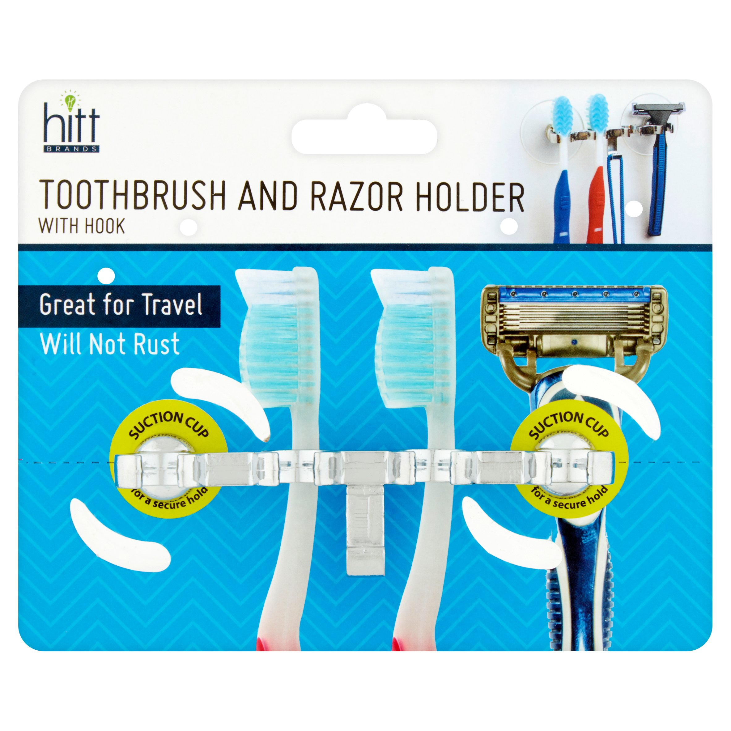 Hitt Brands Toothbrush and Razor Holder with Hook