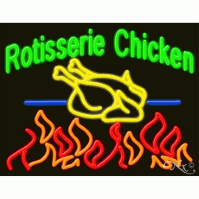 Arter Neon 11266 Business Neon Sign - Rotisserie Chicken 11266