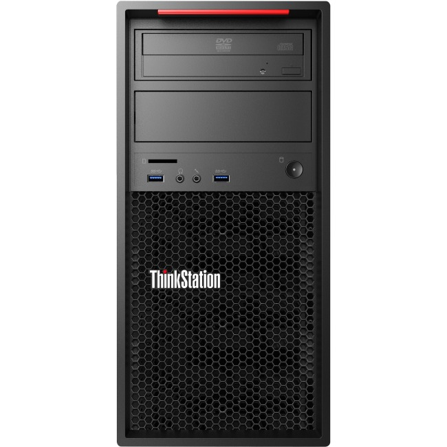 Lenovo 30BH0064US ThinkStation P320 Tower Xeon E3-1240 v6 4C/3.7GHz/8MB/72W/DDR4-2400 1x16GB UDIMM DDR4-2400 Non-ECC 1x512GB SSD M.2 PCIe Opal Windows 10 Pro 64