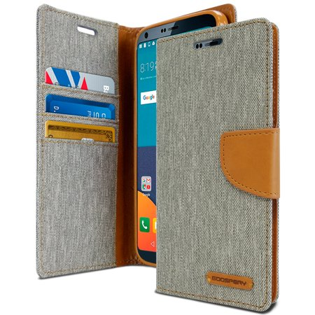 LG G6 Case, [Drop Protection] GOOSPERY® Canvas Diary [Denim