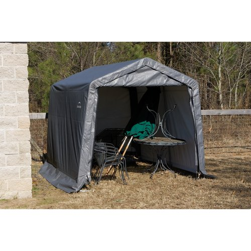 10' x 12' x 8' Peak Style Shelter, Gray by ShelterLogic