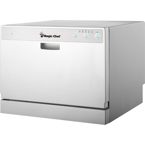 Magic Chef 6 Place Setting Countertop Dishwasher, White