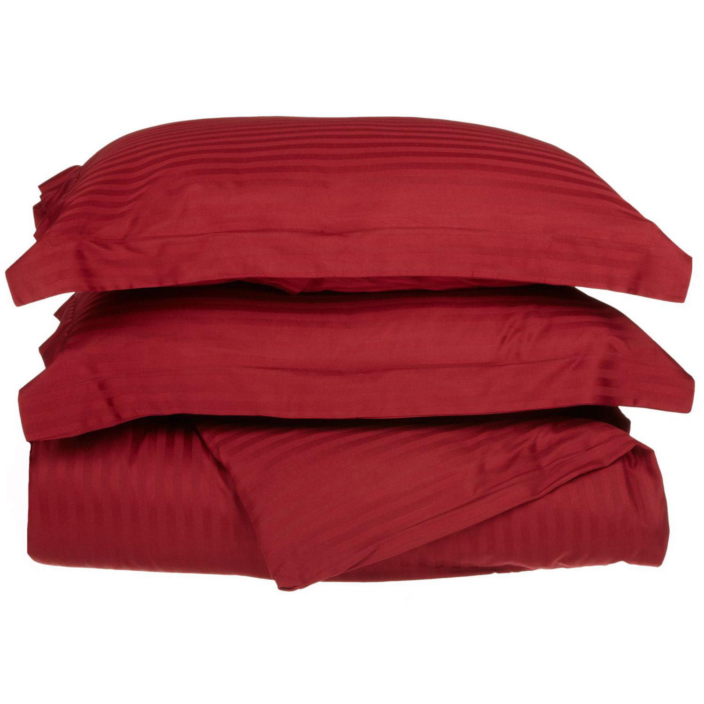 Superior 650 Thread Count Egyptian Cotton Stripe Duvet Cover Set