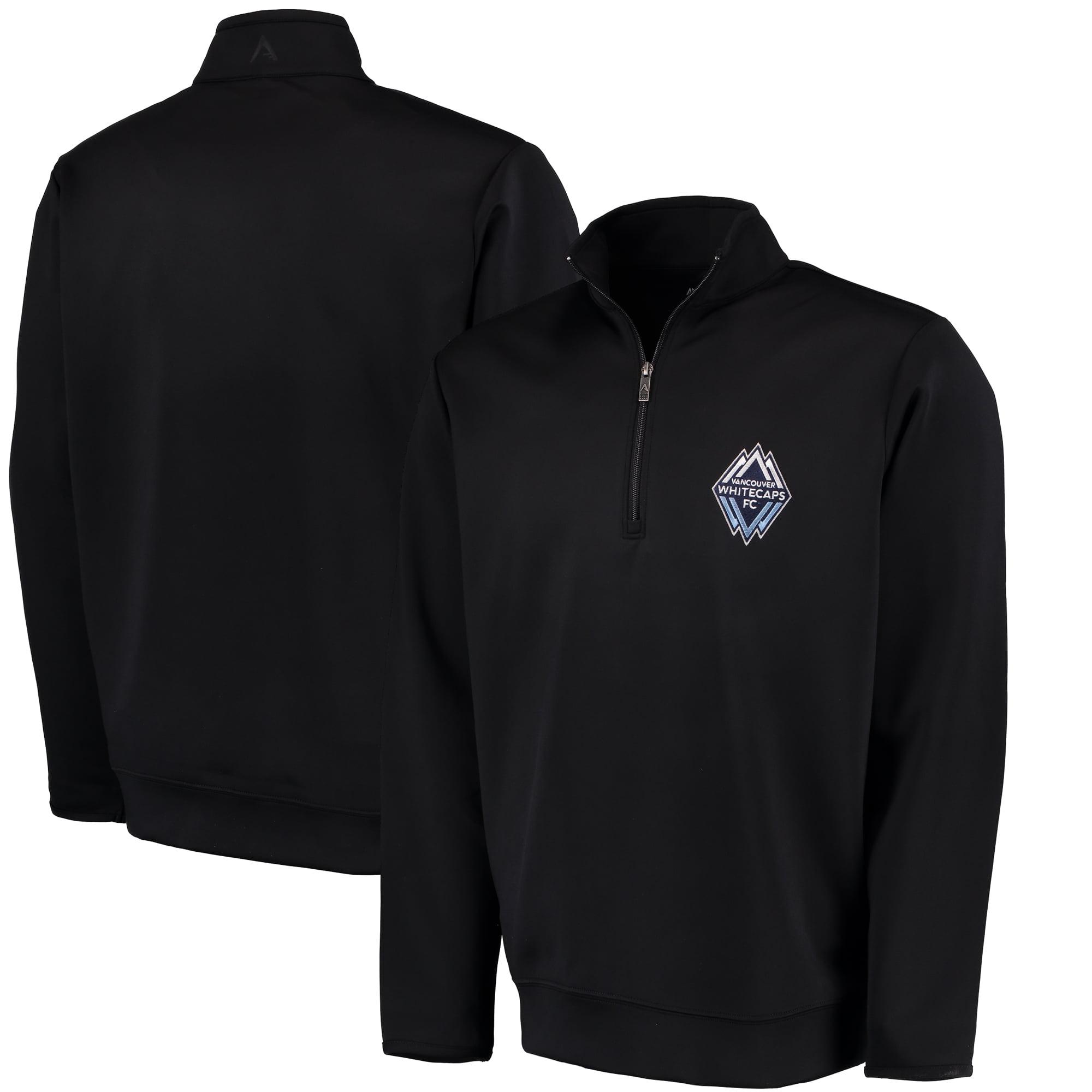 Vancouver Whitecaps FC Antigua Leader Quarter-Zip Pullover Jacket - Black