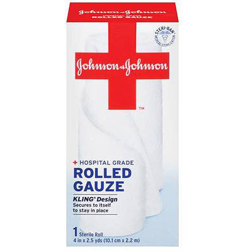 JOHNSON & JOHNSON Red Cross First Aid Rolled Gauze 4 Inches 2.50 Yards