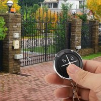 LYUMO 4 Key Black Round Auto Copy Garage Gate Door Wireless Remote Control ,Remote Control, Round Garage Remote Control