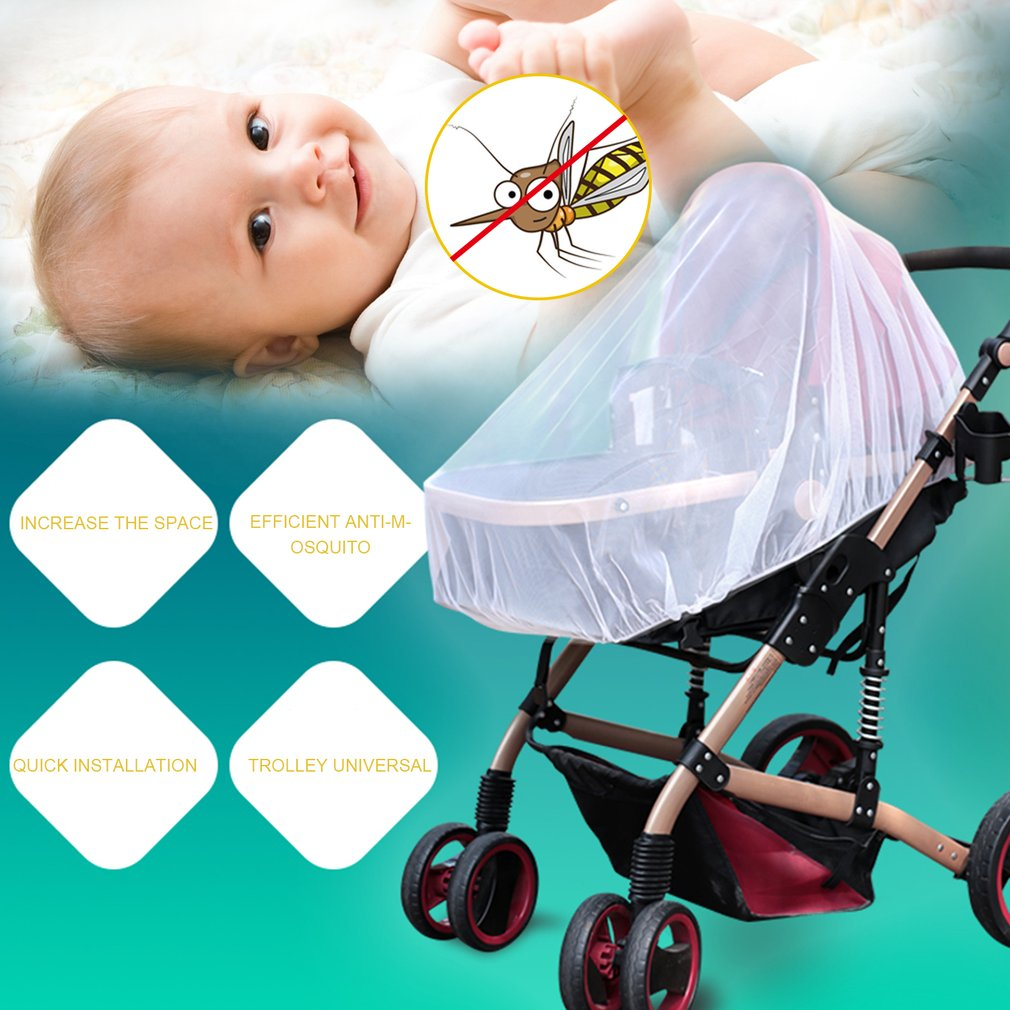 Practical Infants Baby Stroller Pushchair Anti-Insect Mosquito Net Safe Mesh
