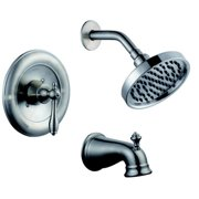 Pegasus 204744245 Estates WaterSense 1-Handle Tub and Shower Faucet in Brushed N