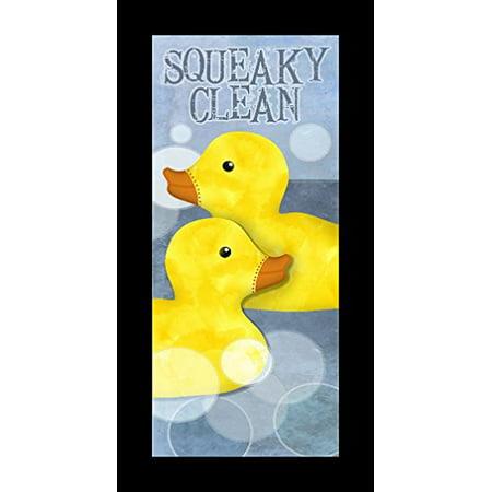buyartforless ML IF BA1161 18x8 1.25 Blk Plexi Framed Squeaky Clean Rubber Ducks 18X8 Art Print Wall Home Decor by Beth Albert](Duck Decor)
