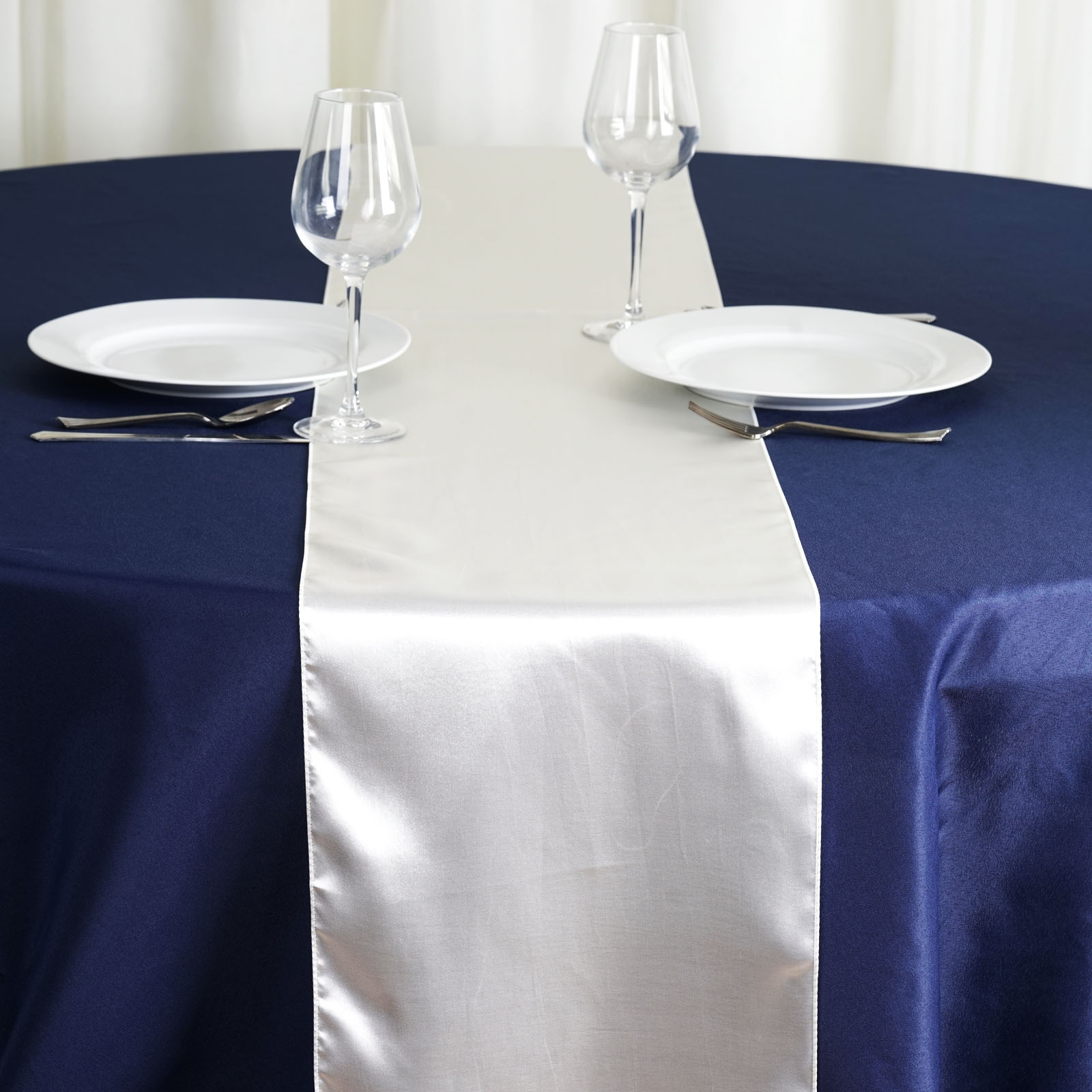 """Click here to buy BalsaCircle 12"""" x 108"""" Satin Table Top Runner Rosettes Wedding Party Reception...."""