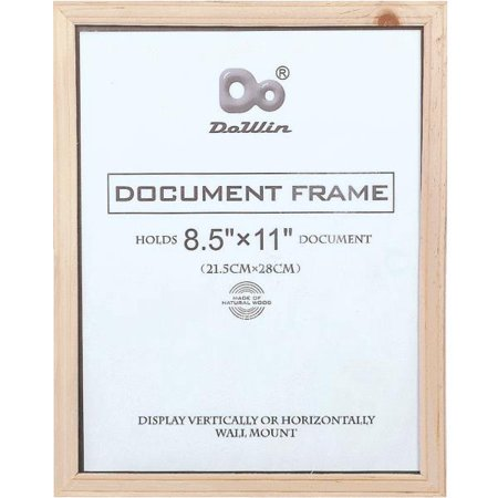 85 x 11 document picture frame