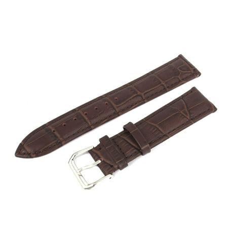 - Unique Bargains Women Men Stylish Alligator Grain Faux Leather Strap Wrist Watch Band 20mm