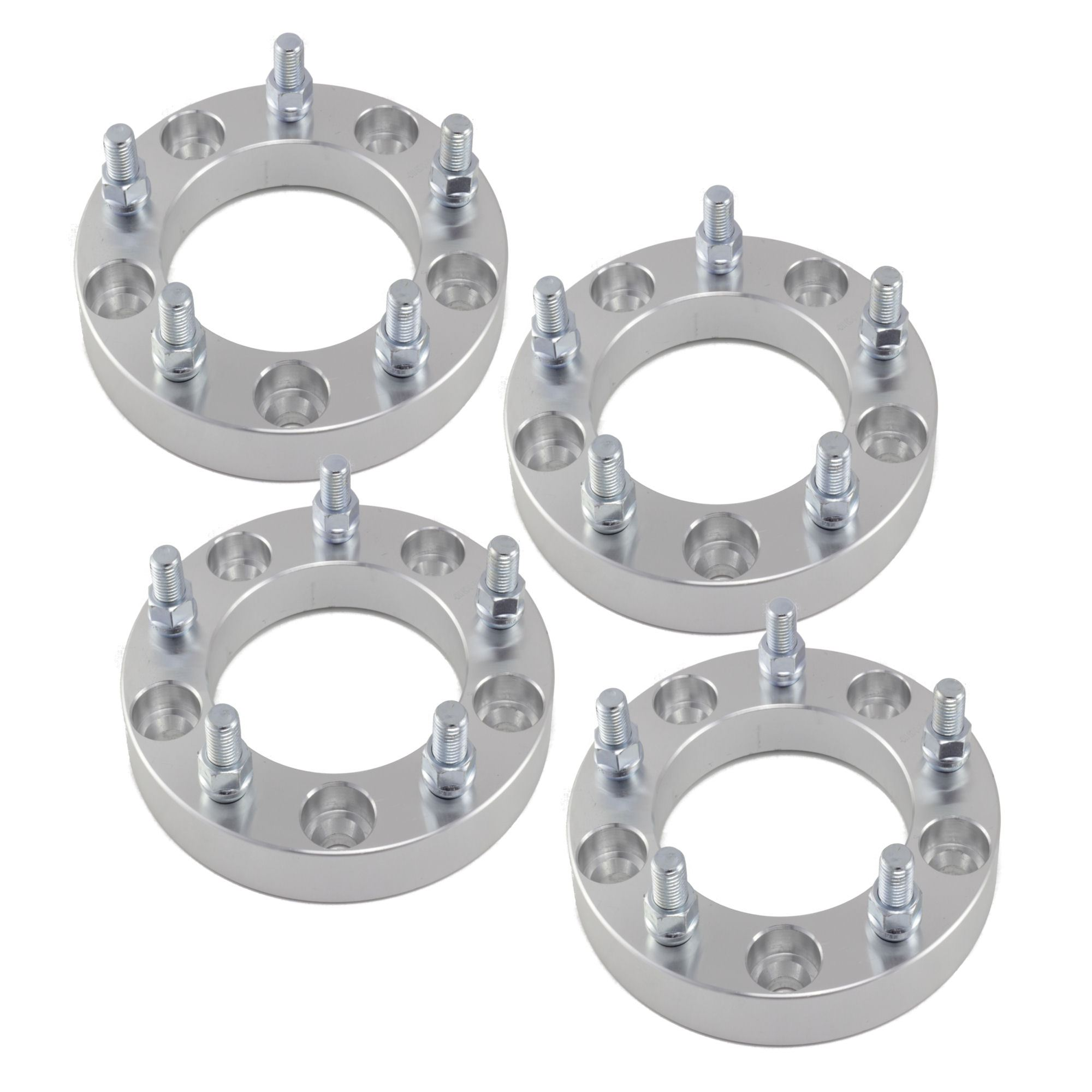 "4pcs 1"" Toyota 5x150 to 5x150 Wheel Spacers Adapters 14x1.5 Studs for 5 Lug Tundra 2007-2016 Billet Aluminum 6061 T6"