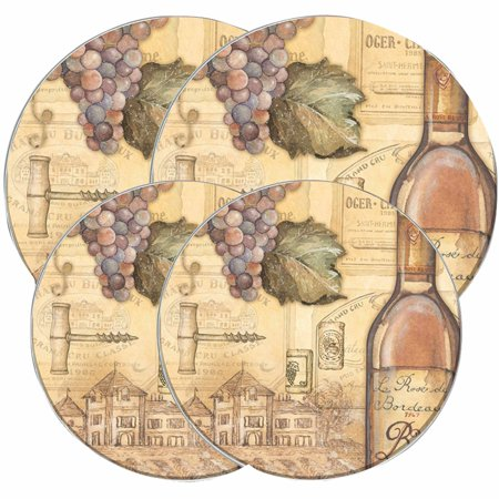 Range Kleen Round Burner Kovers, Tuscany Wine