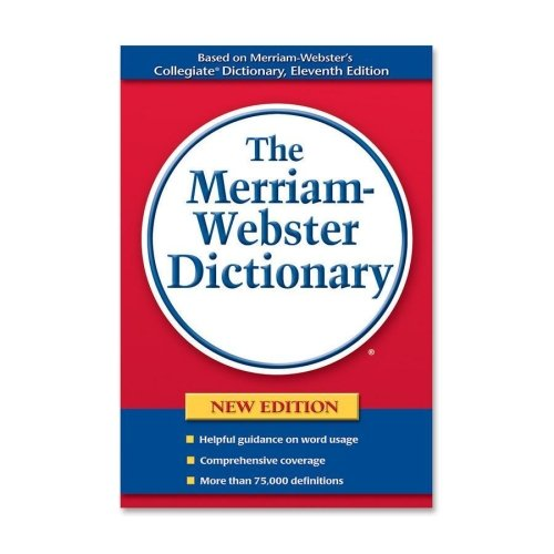 Merriam-Webster Hardback Paperback Dictionary, 75000 Definitions, 720 Pages