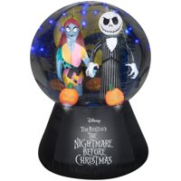 Disney Halloween Airblown Inflatable Nightmare Before Christmas Jack and Sally Globe Scene