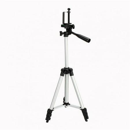 Camera Phone Tripod Extendable Leg Stand Mount With Phone Clip, Aluminium Alloy Phone Tripod Holder For Canon Nikon DSLR Camera